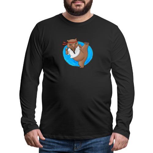 Wombat in Action - Men's Premium Long Sleeve T-Shirt