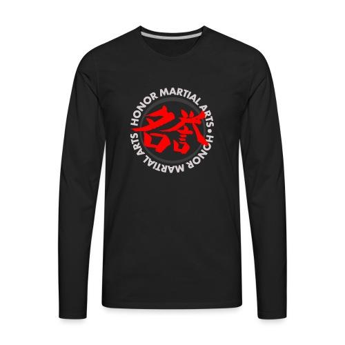 Honor Martial Arts Kanji Design Light Shirts - Men's Premium Long Sleeve T-Shirt