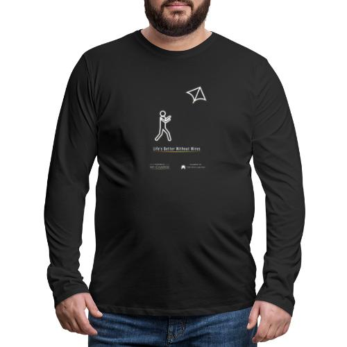 Life's better without wires: Kite - SELF - Men's Premium Long Sleeve T-Shirt