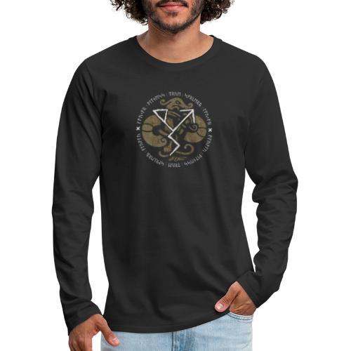 Witness True Sorcery Emblem (Alu, Alu laukaR!) - Men's Premium Long Sleeve T-Shirt