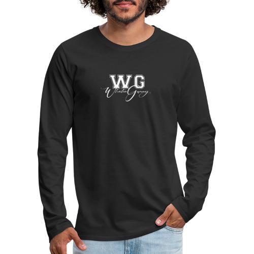 WG design white - Men's Premium Long Sleeve T-Shirt