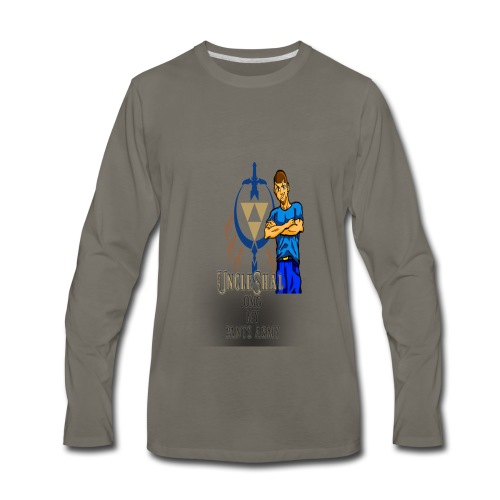 UncleShal shirt design OMG MY PANTS - Men's Premium Long Sleeve T-Shirt
