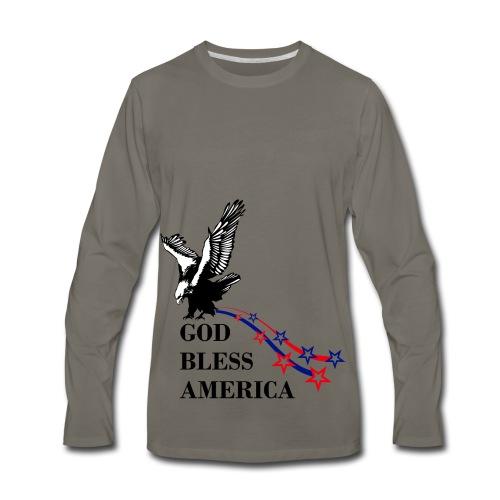 CUSTOM DESIGN GOD BLESS AMERICA - Men's Premium Long Sleeve T-Shirt