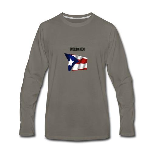 puertorico flag t-shirts - Men's Premium Long Sleeve T-Shirt
