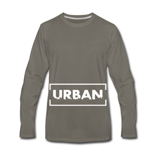 Urban City Wht - Men's Premium Long Sleeve T-Shirt