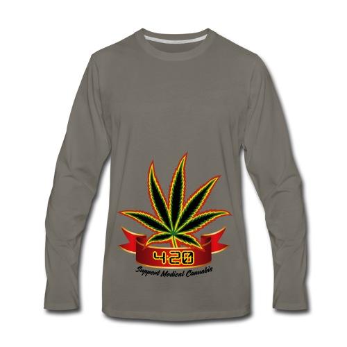 support_medical_cannabis_420 - Men's Premium Long Sleeve T-Shirt