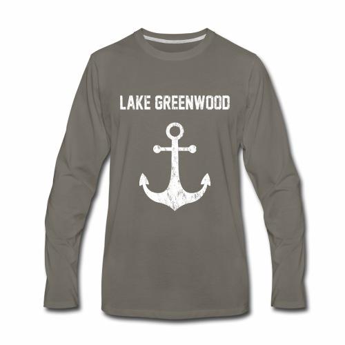 Lake Greenwood South Carolina Anchor Design - Men's Premium Long Sleeve T-Shirt