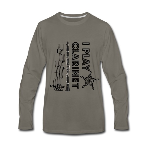 i play clarinet - Men's Premium Long Sleeve T-Shirt