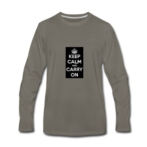 KEEP CALM AND SUB TO DIAMOND - Men's Premium Long Sleeve T-Shirt