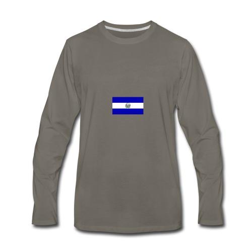 Diseño bandera de el salvador - Men's Premium Long Sleeve T-Shirt