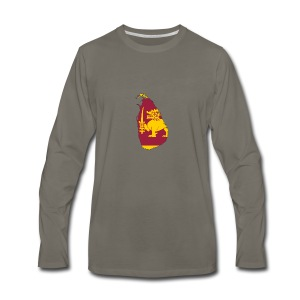 Flag map of sri lanka - Men's Premium Long Sleeve T-Shirt