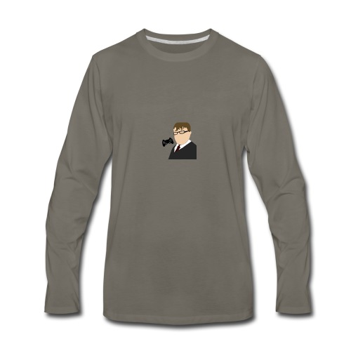 MikeCam123 Logo - Men's Premium Long Sleeve T-Shirt