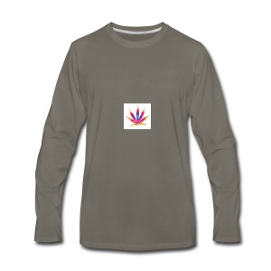 weed leaf2 0 - Men's Premium Long Sleeve T-Shirt