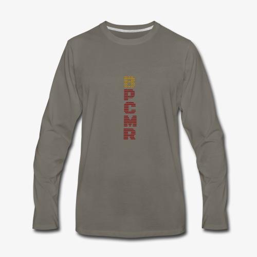 Vertical BPCMR Binary Logo - Men's Premium Long Sleeve T-Shirt
