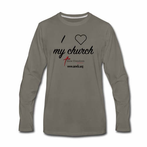 I Love My Church! - Men's Premium Long Sleeve T-Shirt