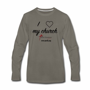 I Love My Church! - Men's Premium Long Sleeve T-Shirt