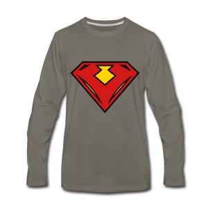 Vegan superhero - Red - Men's Premium Long Sleeve T-Shirt