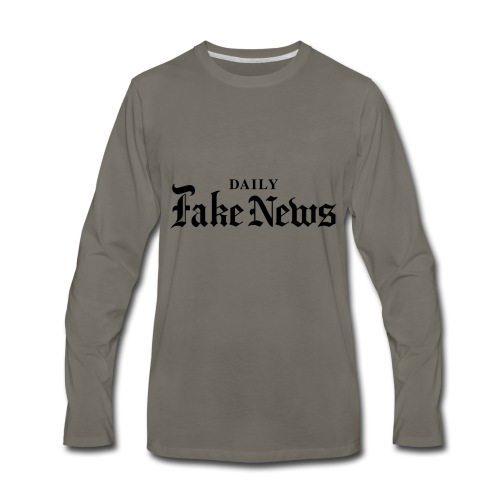 DAILY Fake News - Men's Premium Long Sleeve T-Shirt