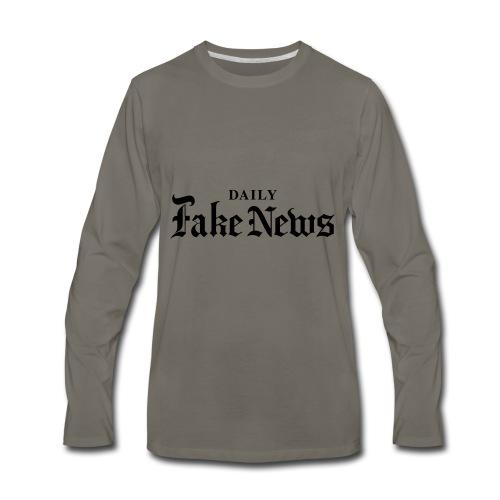DAILY Fake News - Men's Premium Long Sleeve T-Shirt
