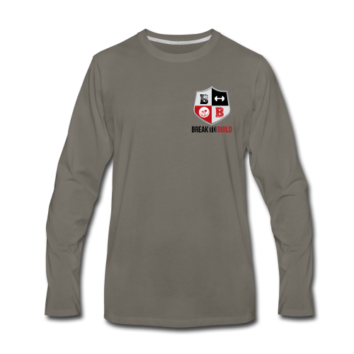 Break To Build Crest & Text - Men's Premium Long Sleeve T-Shirt