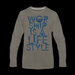 WORSHIP - Men's Premium Long Sleeve T-Shirt