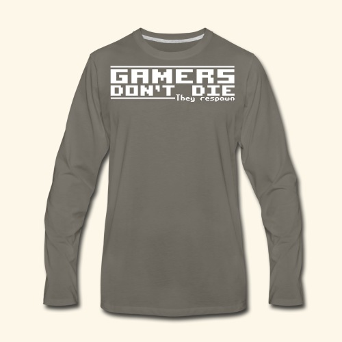 Gamers Respawn - Men's Premium Long Sleeve T-Shirt
