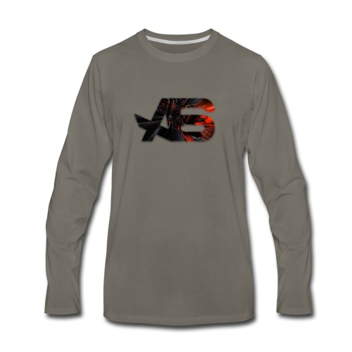 Official A6 Logo Black And Red - Men's Premium Long Sleeve T-Shirt