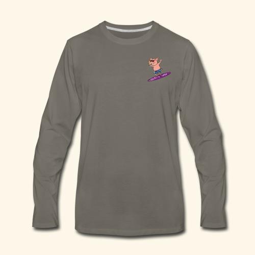 SurfnHog Logo Image - Men's Premium Long Sleeve T-Shirt