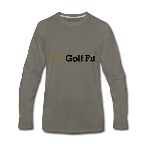 CH GetGolfFit Logo Final Green - Men's Premium Long Sleeve T-Shirt