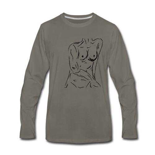 Esquisse - T-shirt Premium à manches longues pour hommes