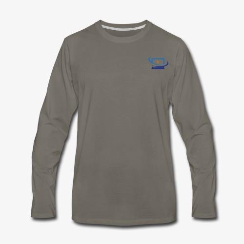 Techbay Logo - Men's Premium Long Sleeve T-Shirt