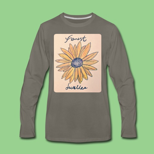 forest dweller Flower - Men's Premium Long Sleeve T-Shirt