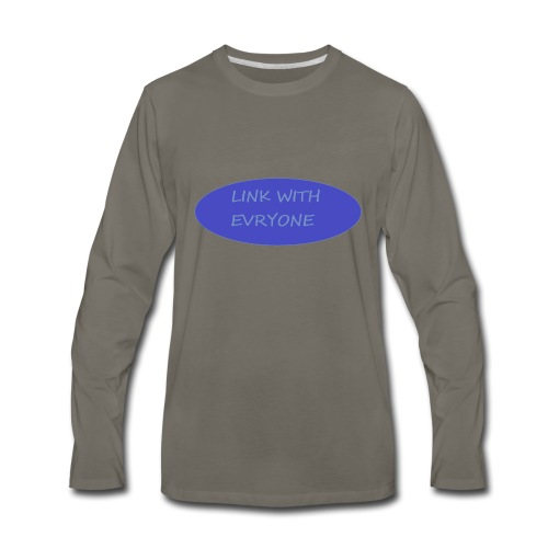 link with everyone - Men's Premium Long Sleeve T-Shirt