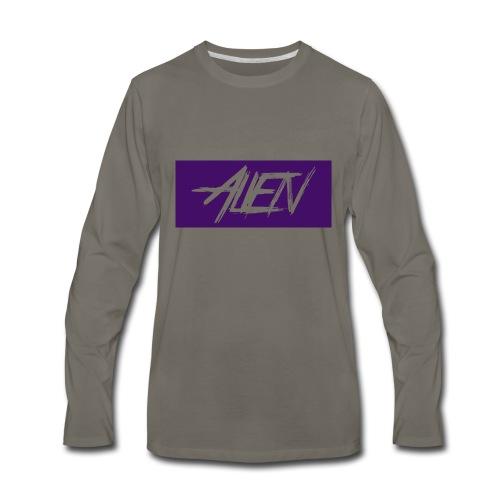 Alien-word-logo - Men's Premium Long Sleeve T-Shirt