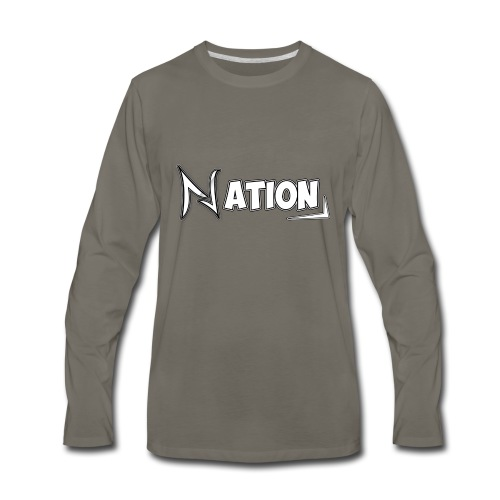 Nation Logo Design - Men's Premium Long Sleeve T-Shirt