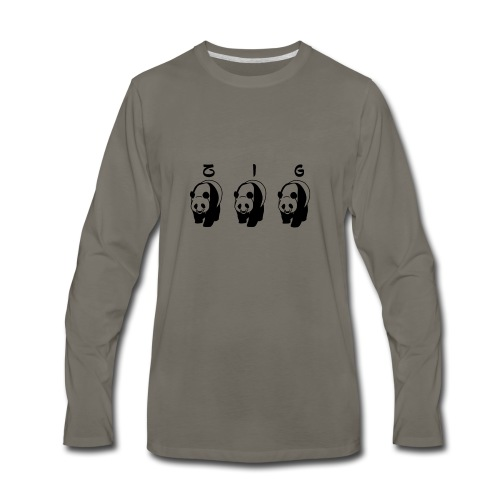 ZIGZIG PANDA - Men's Premium Long Sleeve T-Shirt
