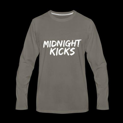 Midnight Kicks Logo - Men's Premium Long Sleeve T-Shirt