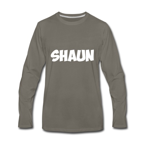 Shaun Logo Shirt - Men's Premium Long Sleeve T-Shirt