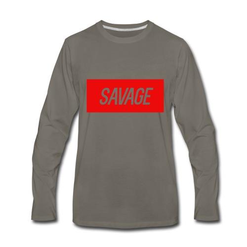 savage.pnggggggggggggg - Men's Premium Long Sleeve T-Shirt