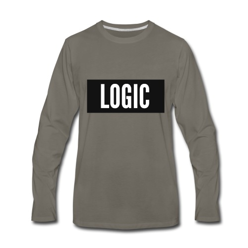 Logic Bold Logo - Men's Premium Long Sleeve T-Shirt