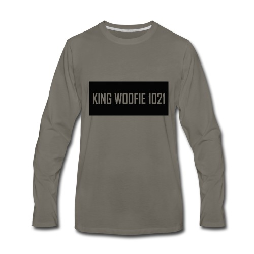 Woofie Logo - Men's Premium Long Sleeve T-Shirt
