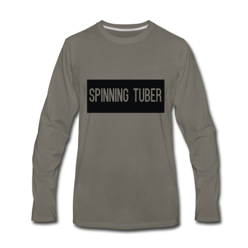 Spinning Tuber's Design - Men's Premium Long Sleeve T-Shirt