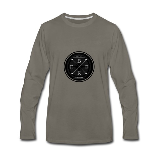 B.E.E.R. Anytime, Anywhere - Men's Premium Long Sleeve T-Shirt