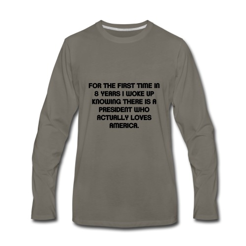 President Loves USA - Men's Premium Long Sleeve T-Shirt