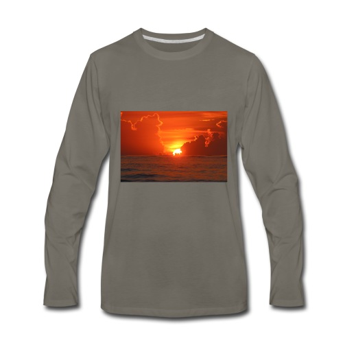 Sunrise on Vilano Beach - Men's Premium Long Sleeve T-Shirt