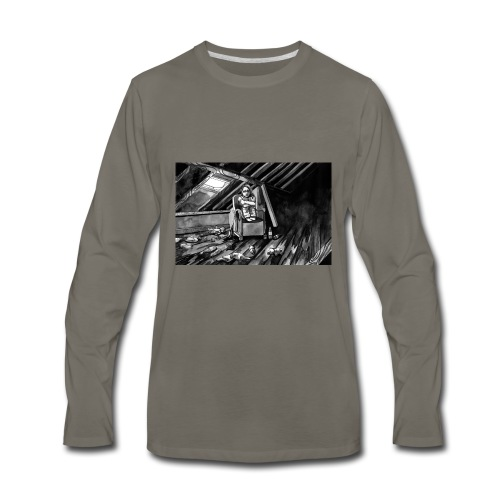 Bex Hiding from Zombies - Men's Premium Long Sleeve T-Shirt