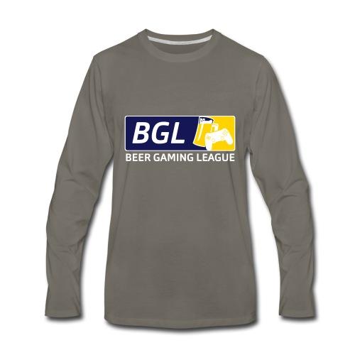 Mens Official Beer Gaming League Shirt - Men's Premium Long Sleeve T-Shirt