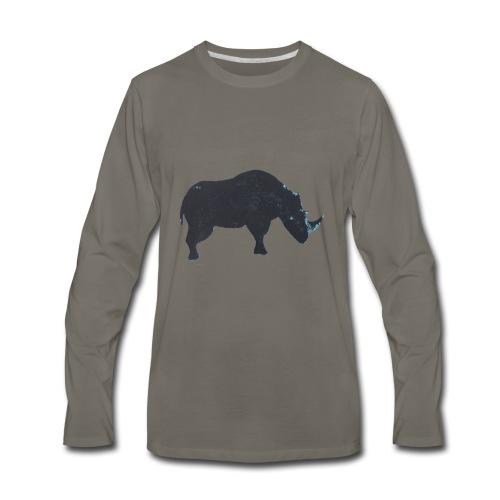 Rhino print - Men's Premium Long Sleeve T-Shirt