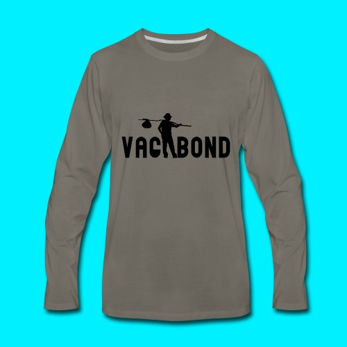 Vagabond Logo Wide - Men's Premium Long Sleeve T-Shirt