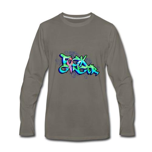 fck cancer - Men's Premium Long Sleeve T-Shirt